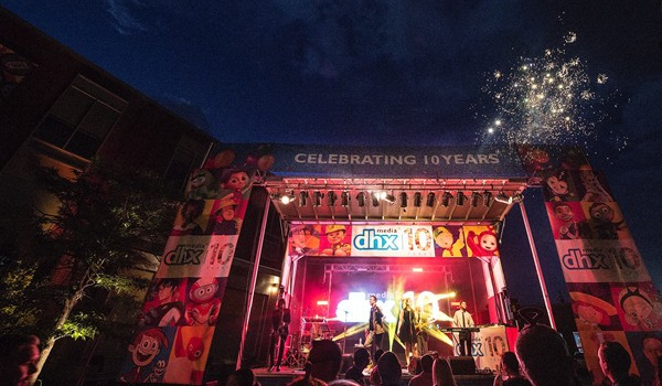DHX Media celebrated its 10th anniversary on July 14, 2016 with a party, featuring The Goldmembers band, on the Degrassi backlot at DHX Studios in Toronto.