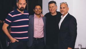 Left to right - J Jolly, Neil Chakravarti, Michael Hirsh, Bill Marks