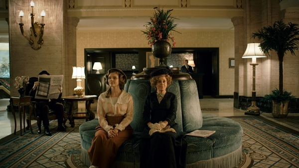 Kate Ross (L) and Fiona Reid (R) in Chateau Laurier