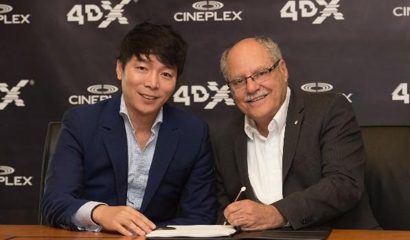 Cineplex 4DX Expansion Announcement Photo