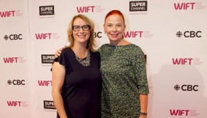 WIFT-T 2018 reception - Catherine Tait with WIFT-T's Heather Webb