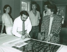 martin scorsese with the first year residents at the cfc