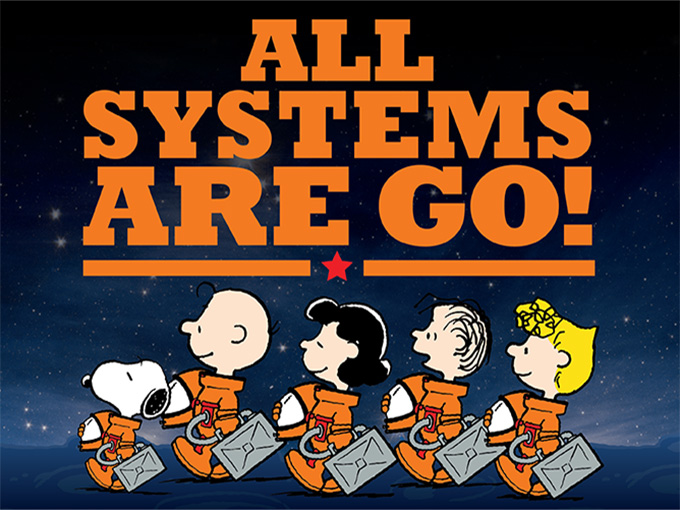 Copied from Kidscreen - Peanuts-NASA
