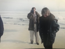The outgoing CEO and film commissioner on set on frozen Lake Winnipeg.