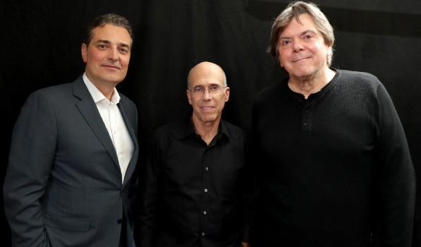 Mirko Bibic, Jeffrey Katzenberg and Randy Lennox