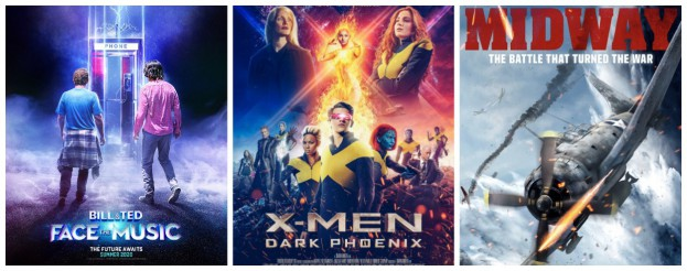 additional credits include bill and ted face the music (2020),  x-men: dark phoenix (2019) and  midland (2019).