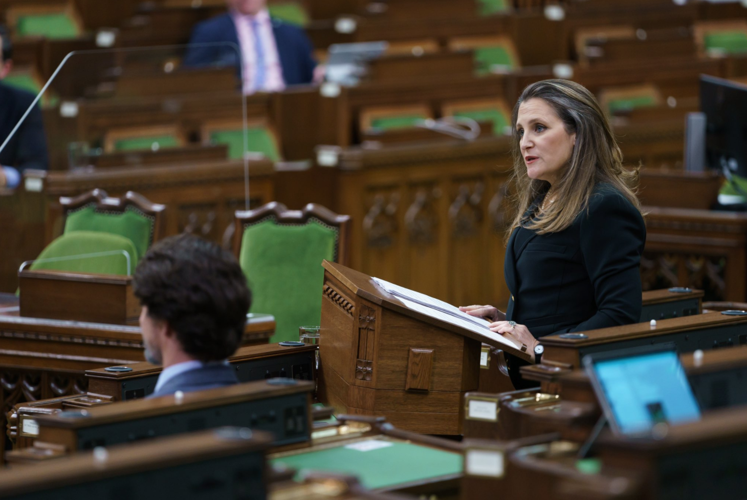 Chrystia Freeland delivering 2021 budget in House of Commons